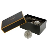 L'objet Sphere Salt And Pepper Shakers With White Swarovski Noir Oxidized