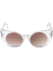 Barn's 'Eye Liner Frame' Sunglasses White