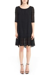 Saint Laurent Women's Eyelet Lace Georgette Babydoll Dress