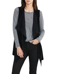 Velvet By Graham And Spencer Faux Suede Vest Black