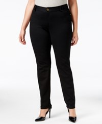 Inc International Concepts Plus Size Skinny Ponte Pants Only At Macy's Deep Black