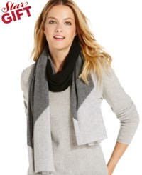 Charter Club Colorblock Jersey Knit Cashmere Muffler Only At Macy's Heather Camel