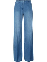 Michael Michael Kors Wide Leg Denim Trousers Blue