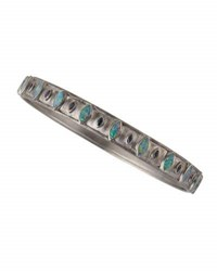 Armenta New World Opal And Blue Sapphire Wide Bangle Silver