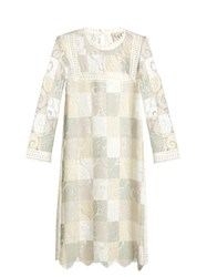 Sea Lace Cut Out Patchwork Dress Ivory Multi
