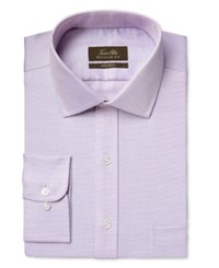 Tasso Elba Men's Classic Fit Non Iron Lavender Houndstooth Dress Shirt Only At Macy's