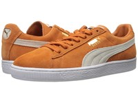 Puma Suede Classic Burnt Orange White Men's Shoes Burnt Orange Puma White