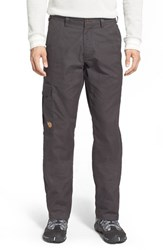 Fjall Raven Men's Big And Tall Fj Llr Ven ' Vik' Cargo Pants Dark Grey