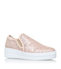 Kurt Geiger Louie Sequin Flatform Sneakers Female Pink