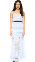Self Portrait Teardrop Maxi Dress Sky Blue