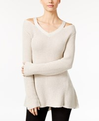 Styleandco. Style Co. Petite High Low Cutout Sweater Only At Macy's Stonewall