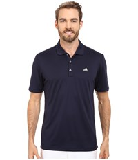 Adidas Branded Performance Polo Navy Men's Short Sleeve Pullover