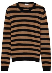 Valentino Striped Chunky Knit Cashmere Jumper Black
