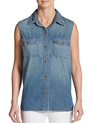 Current Elliott Sleeveless Chambray