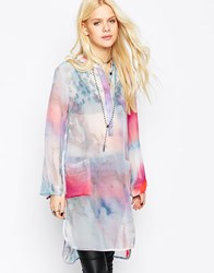 Religion Mystic Kaftan Shirt Dress Multi