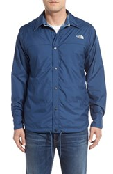 The North Face Men's 'Fort Point Flannel' Water Resistant Reversible Jacket Shady Blue