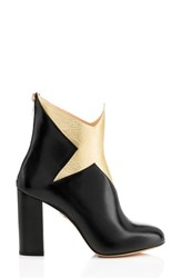 Charlotte Olympia Women's 'Galactica Star' Bootie Black Gold Leather