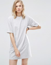 Asos Lightweight Sweat T Shirt Dress Grey