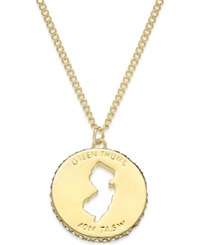 Kate Spade New York State Of Mind Gold Tone State Cutout Pendant Necklace New Jersey