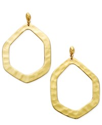Inc International Concepts Large Hammered Geometric Gypsy Hoop Earrings Only At Macy's Gold