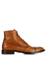 Belstaff Rainer Leather Lace Up Boots Brown