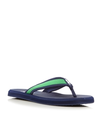 Polo Ralph Lauren Almer Ii Canvas Toe Post Sandals Navy