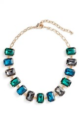 Nordstrom Women's Crystal Collar Necklace Green Multi Gold