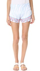 Tiare Hawaii Embroidered Shorts Sky White Smoke