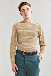 Hanes X Us Rags Camo Dye Thermal Long Sleeve Tee Cream Multi