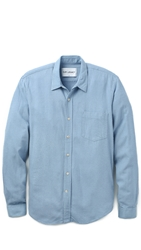 Our Legacy Silk Classic Shirt Light Blue
