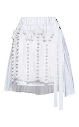 N 21 No. Helena Pleated Fringe Mini Skirt White