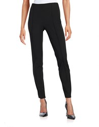 Vince Camuto Petite Ponte Side Zip Leggings Rich Black