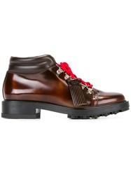 Tod's Tassel Hiking Boots Brown