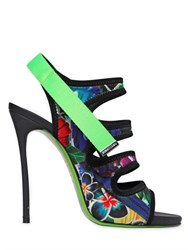 Dsquared 120Mm Floral Printed Neoprene Sandals