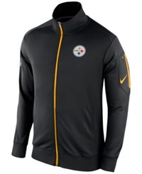 Nike Men's Pittsburgh Steelers Empower Jacket Black Yellow
