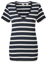 Levi's The Perfect Stripe Jersey T Shirt Caviar Birch