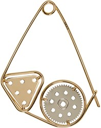 Loewe Gold Meccano Double Brooch