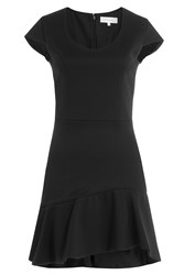 Carven Dress With Ruffled Skirt Black