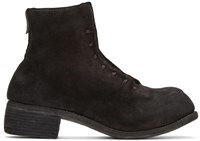 Guidi Black Suede Lace Up Boots