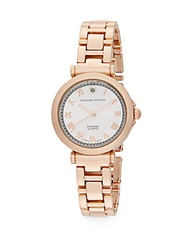 Adrienne Vittadini Diamond Rose Goldtone Bracelet Watch