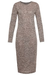 Vero Moda Vmscotty Jumper Dress Decadent Chocolate Comb Dark Brown