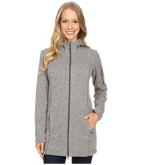 Jack Wolfskin Caribou Parka Light Grey Women's Sweatshirt Gray
