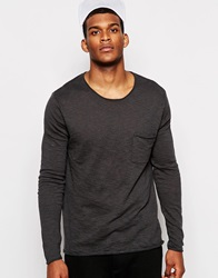 River Island Lightweight Marl Pocket Jumper Black