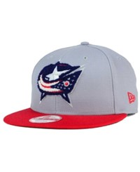 New Era Columbus Blue Jackets The Letter Man 9Fifty Snapback Cap Gray Red