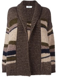 Closed Striped Cardigan Brown