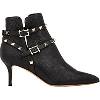 Valentino Women's Rockstud Ankle Booties Black Blue Black Blue