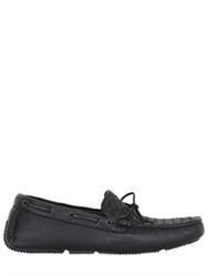 Bottega Veneta Intreccio Washed Deerskin Driving Shoes