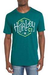 Hurley Men's 'On Us' Graphic Crewneck T Shirt