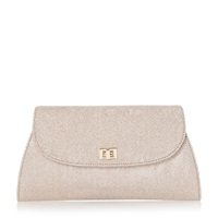 Untold Blanco Lurex Clutch Bag Gold