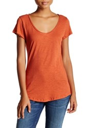 14Th And Union Short Sleeve V Neck Tee Petite Red Sauce